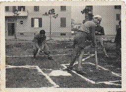 Nella foto Umberto Calzolari alla battuta e Franco Ludovisi ricevitore