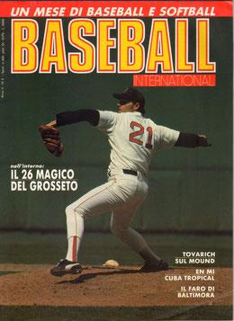 Una copertina della rivista BASEBALL INTERNATIONAL