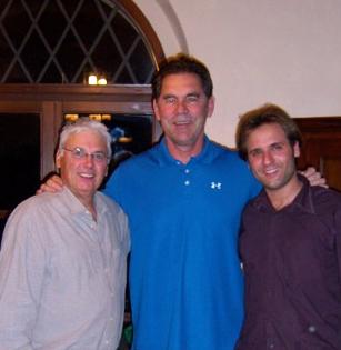 Nella foto da sinistra: Frankie Russo, Bruce Bochy e Giorgio il gestore dell'Agriturismo Terre di Nano