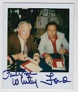 Whitey Ford e Phil Pepe in una foto polaroid autografata