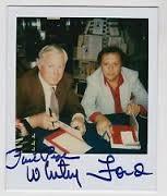 Whitey Ford e Phil Pepe in una foto polaroid autografata