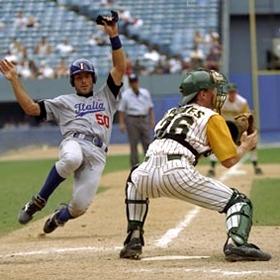 Nella foto Gigi Carrozza con la Nazionale alle Olimpiadi di Atlanta nel 1996