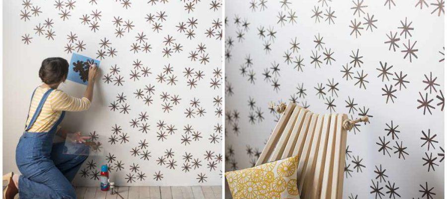 ¿Cómo pintar pared con estarcido, plantillas, stencil?