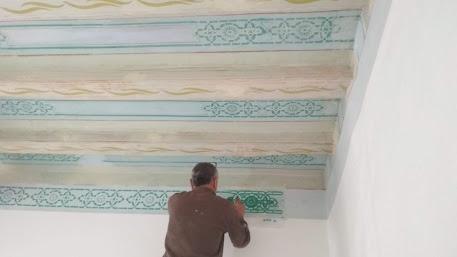 restauración techo modernista