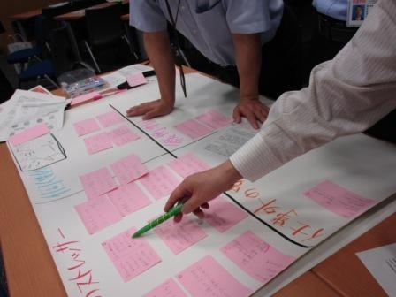 参加者が積極的に議論をたたかわすワークショップ