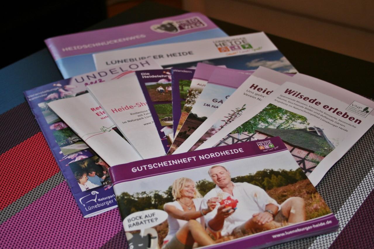 Infomaterial über die Lüneburger Heide und Ausflugstips