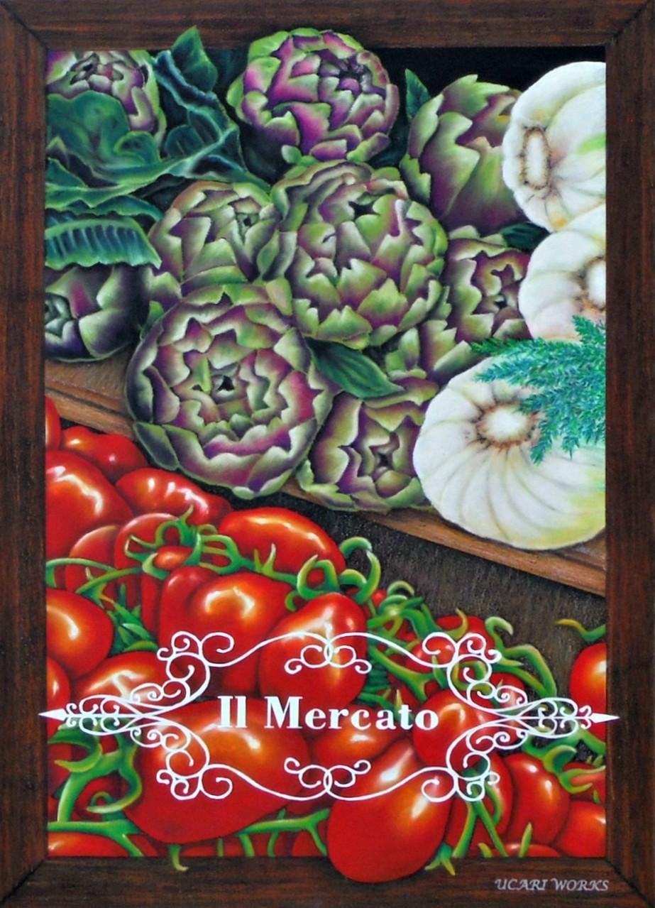 2014.5月「チョークアートで織りなすイタリアの世界 in 下北沢ピッツァリーナ」展示作品