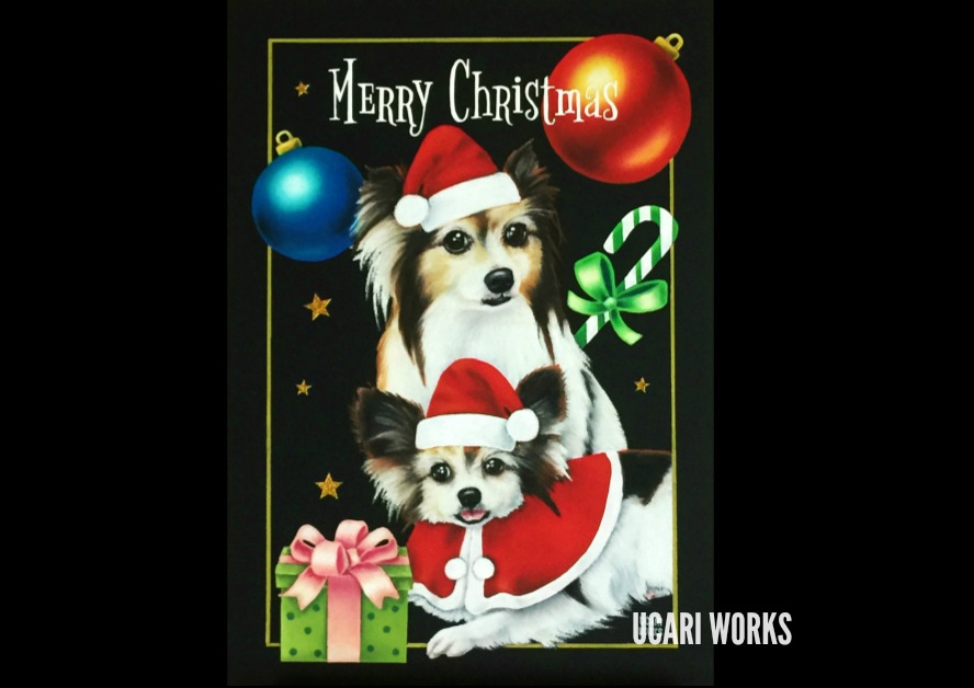S様 愛犬のクリスマスボード(A4)