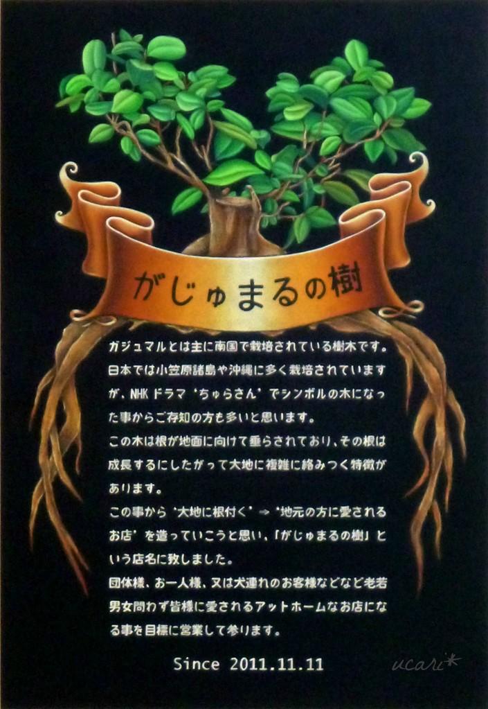 自家製欧風カレー専門店 がじゅまるの樹 様 店名由来ボード