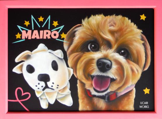 M様 プレゼント用愛犬ボード(A4)
