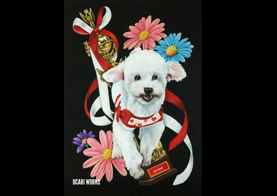 O様 愛犬ガトーショコラちゃんボード(A4)