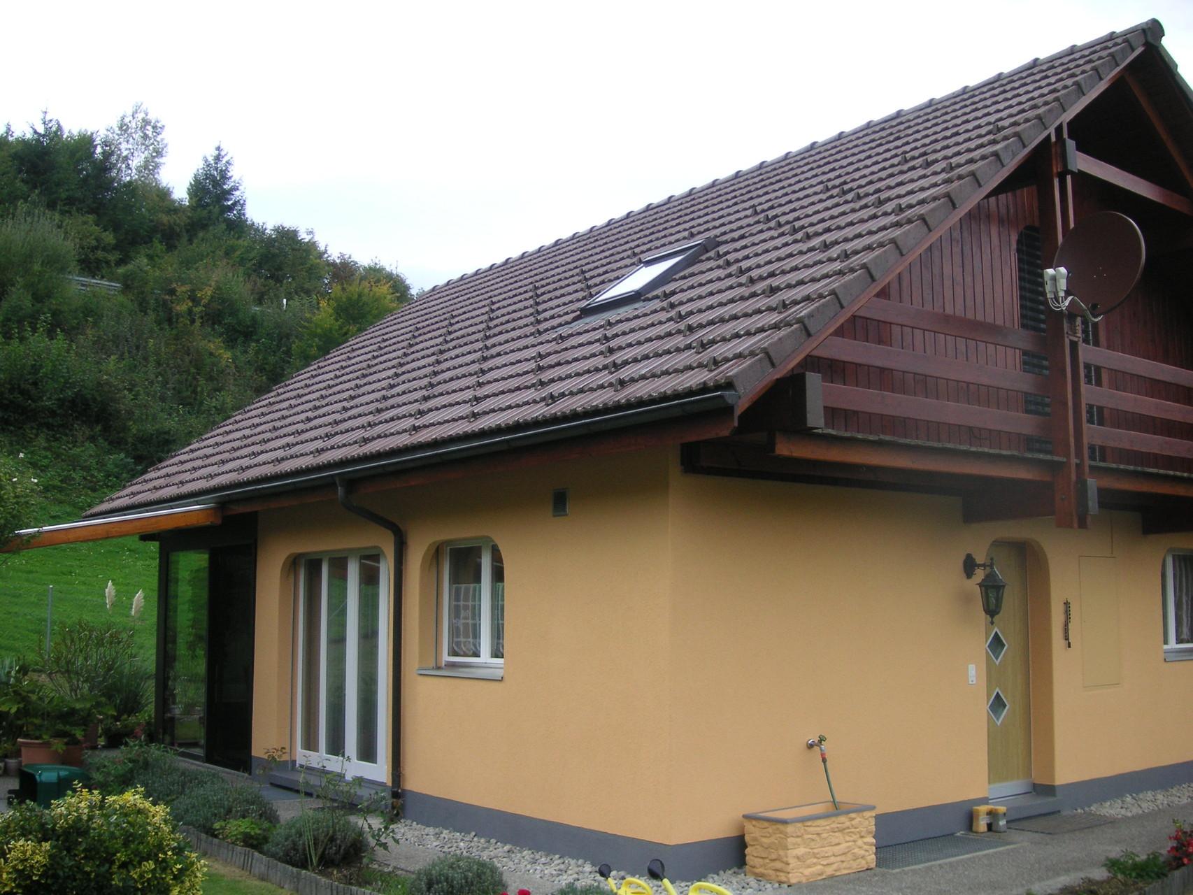 Neues Farbkonzept Einfamilienhaus, Burgistein