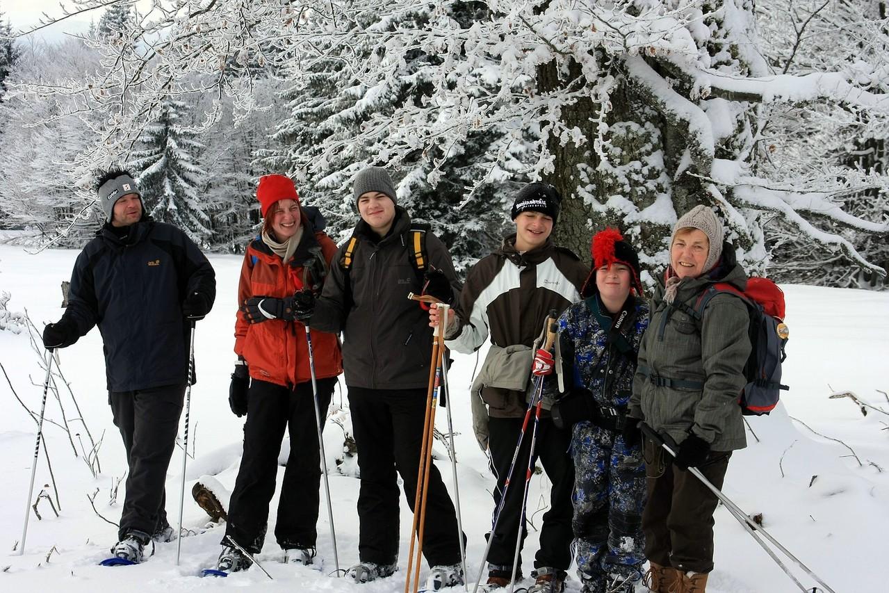 Schneeschuhwandern macht riesen Spaß