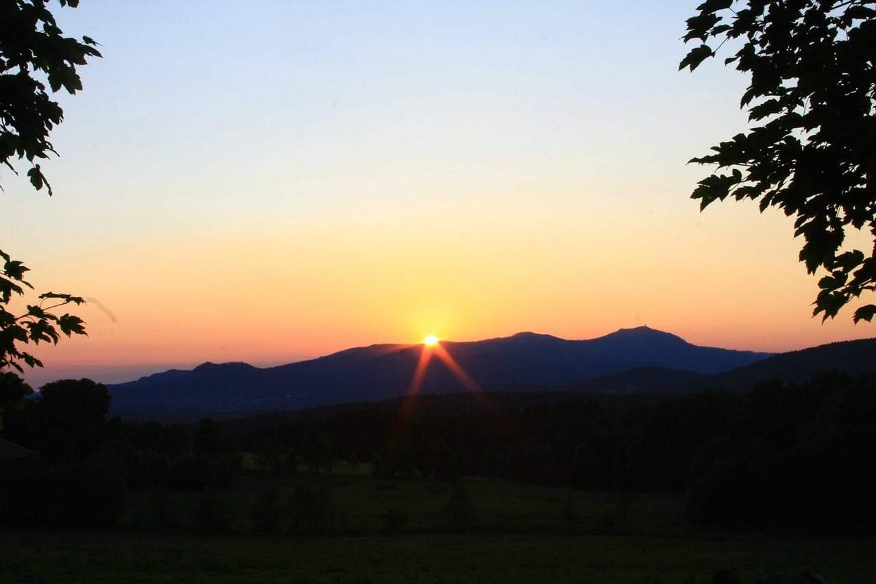 Sonnenuntergang Großer Arber