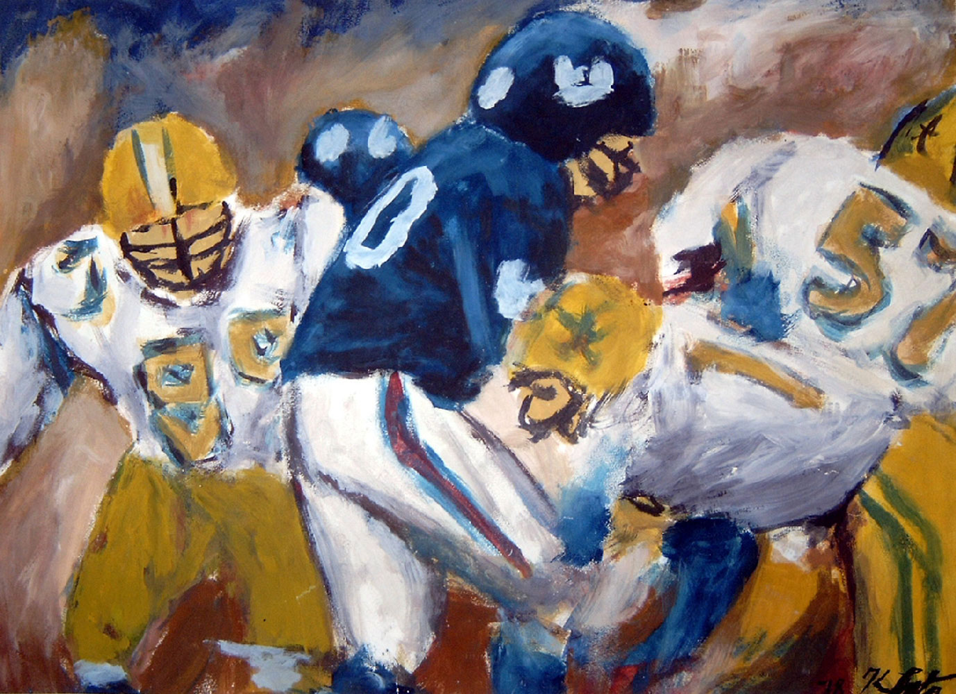 Football / 1978 / 66 x 52 cm / Papier / Ei-Tempera