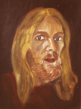 Selbstportrait / 1975 / 24 x 32 cm / Malpappe / Öl