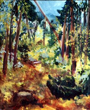 Rosengarten / 1978 / 50 x 60 cm / Hartfaser
