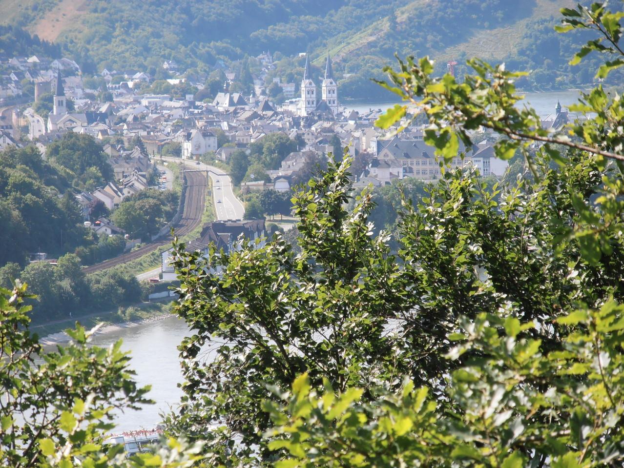 Blick auf Boppard vom Rheinsteig