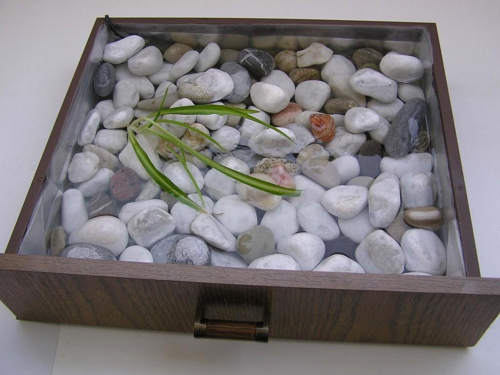 Oase – Privat Brunnen,  50 x 40 cm      Thema/ Aussen Welt Innen, Innen Welt Außen 2004