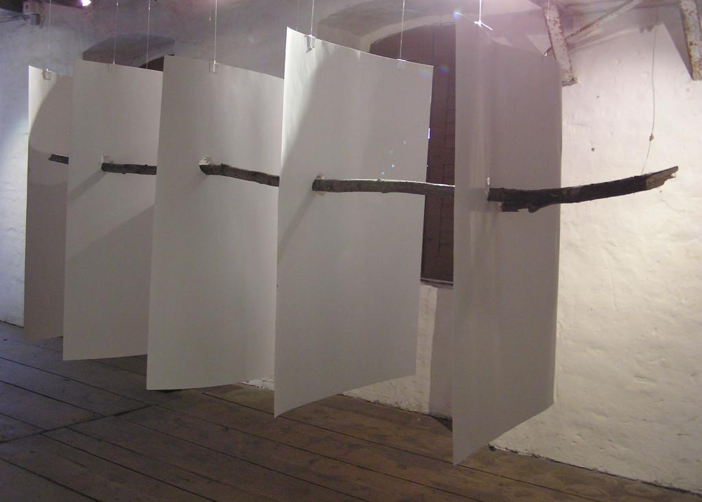 """Druchbruch,Thema """" Brücken und Grenzen"""" 2006 Internationales Landschafts Pleinair in Schwadt/Oder"""