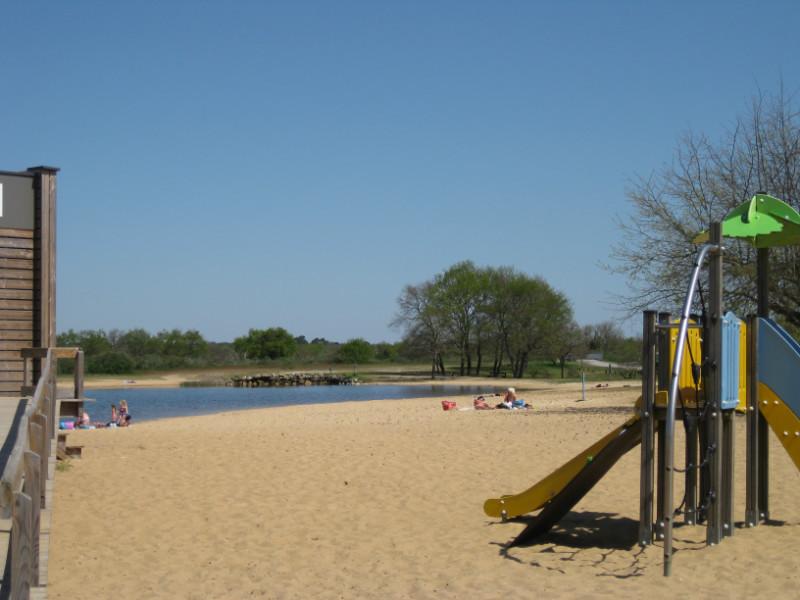 Le Teich, Vraies vacances sur le Bassin d'Arcachon - Baignade aménagée
