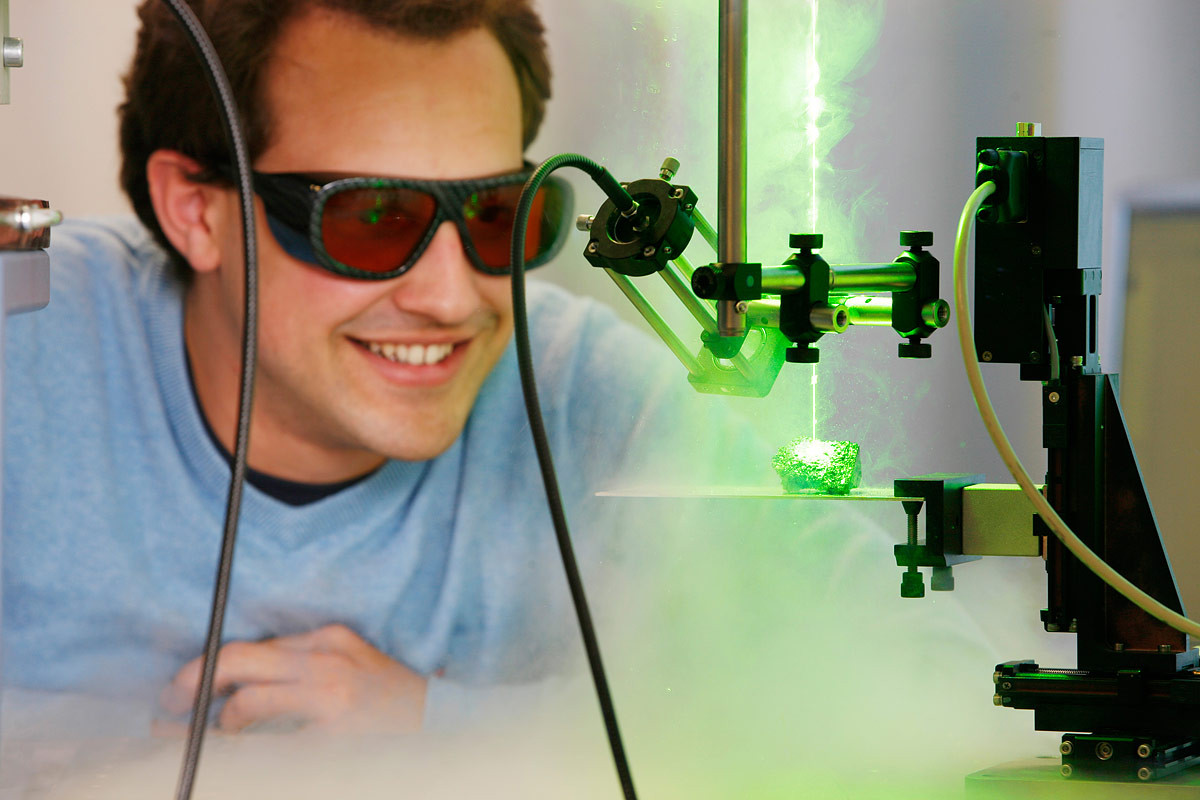 Laser Induced Breakdown Spectroscopy (Bild: HS-Koblenz)