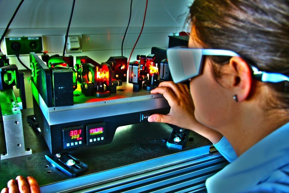 Optisch Parametrischer Oszillator (Bild: HS-Aalen)