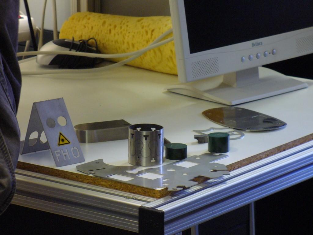 Laserbearbeitungen (Bild: HS-Emden)