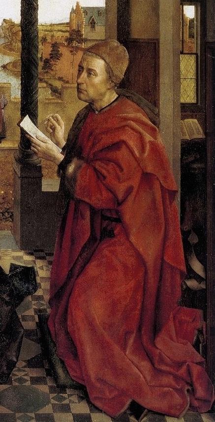 'De Heilige Lucas' in het origineel van Rogier van der Weyden