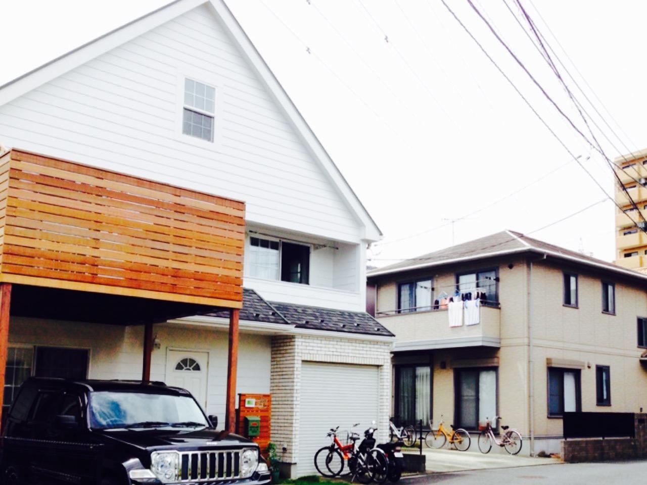 P直進 左側(三角屋根の家)
