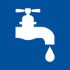 Symbol für einen tropfenden Wasserhahn