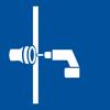 Symbol für ein angebohrtes Rohr