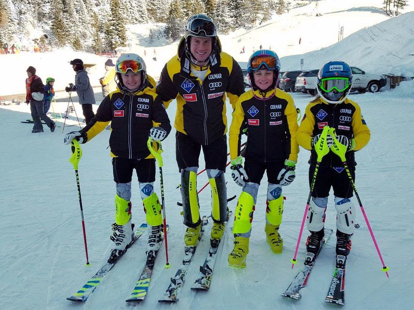 Vorbild Marco mit seinen Fans Yannick, Mischa und Nina