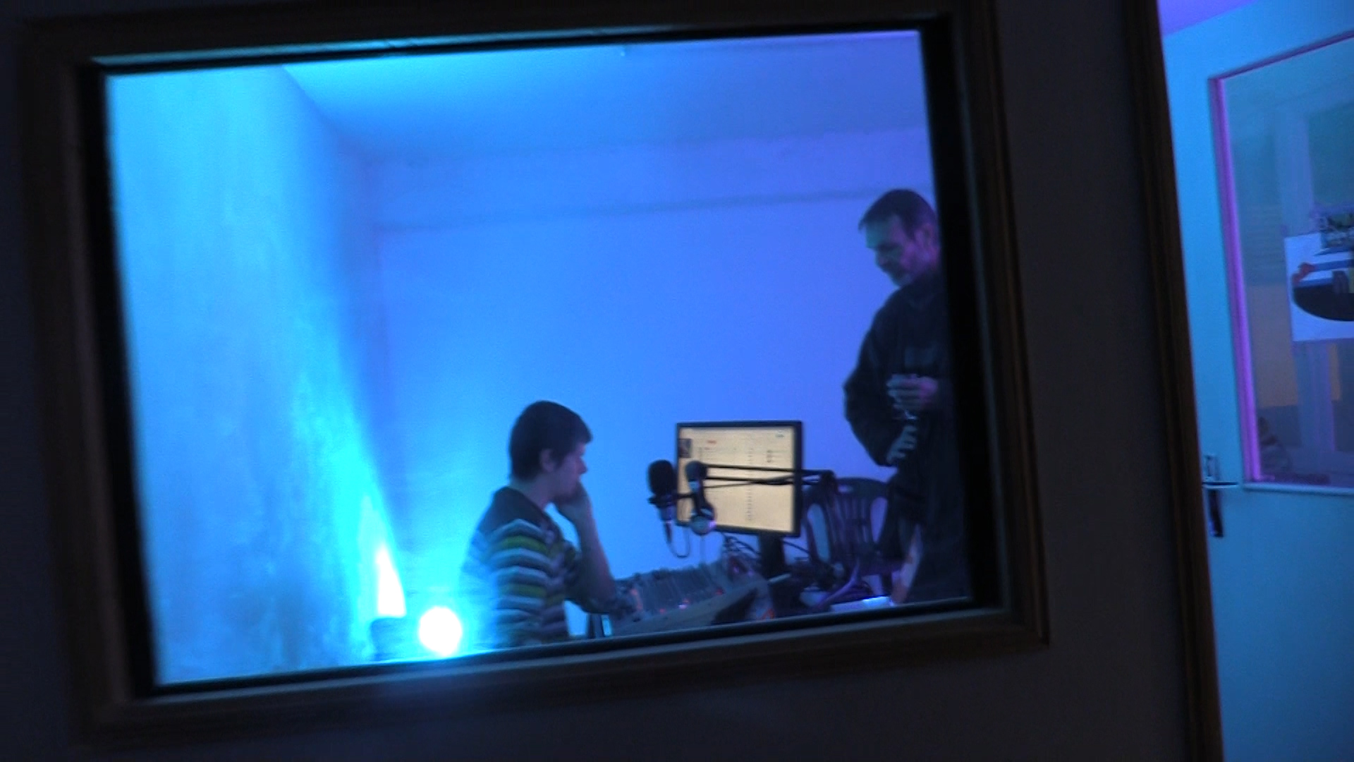 Au 2ème étage, le studio d'enregistrement