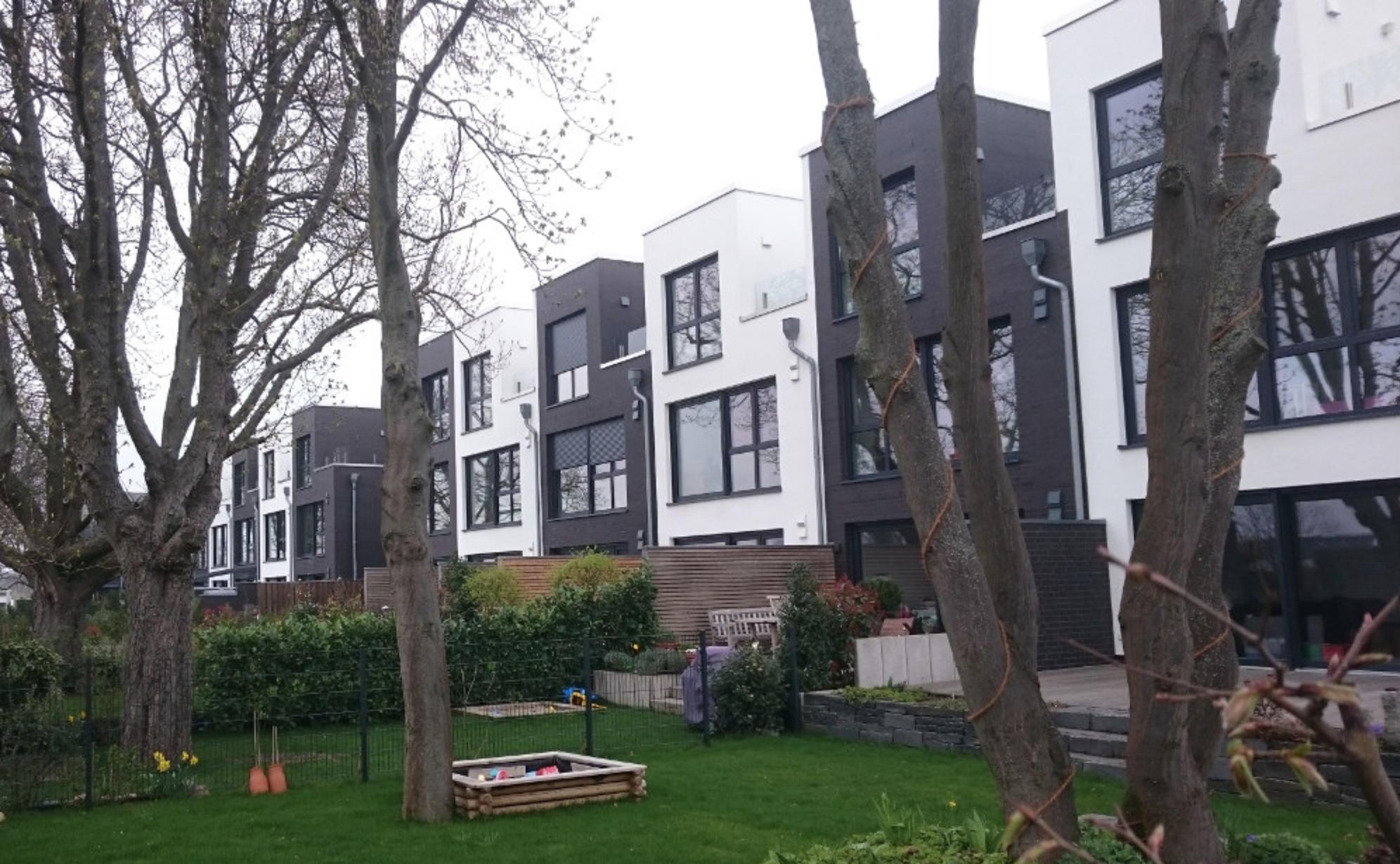 Eine typische Bebauungsform im neuen Wohngebiet