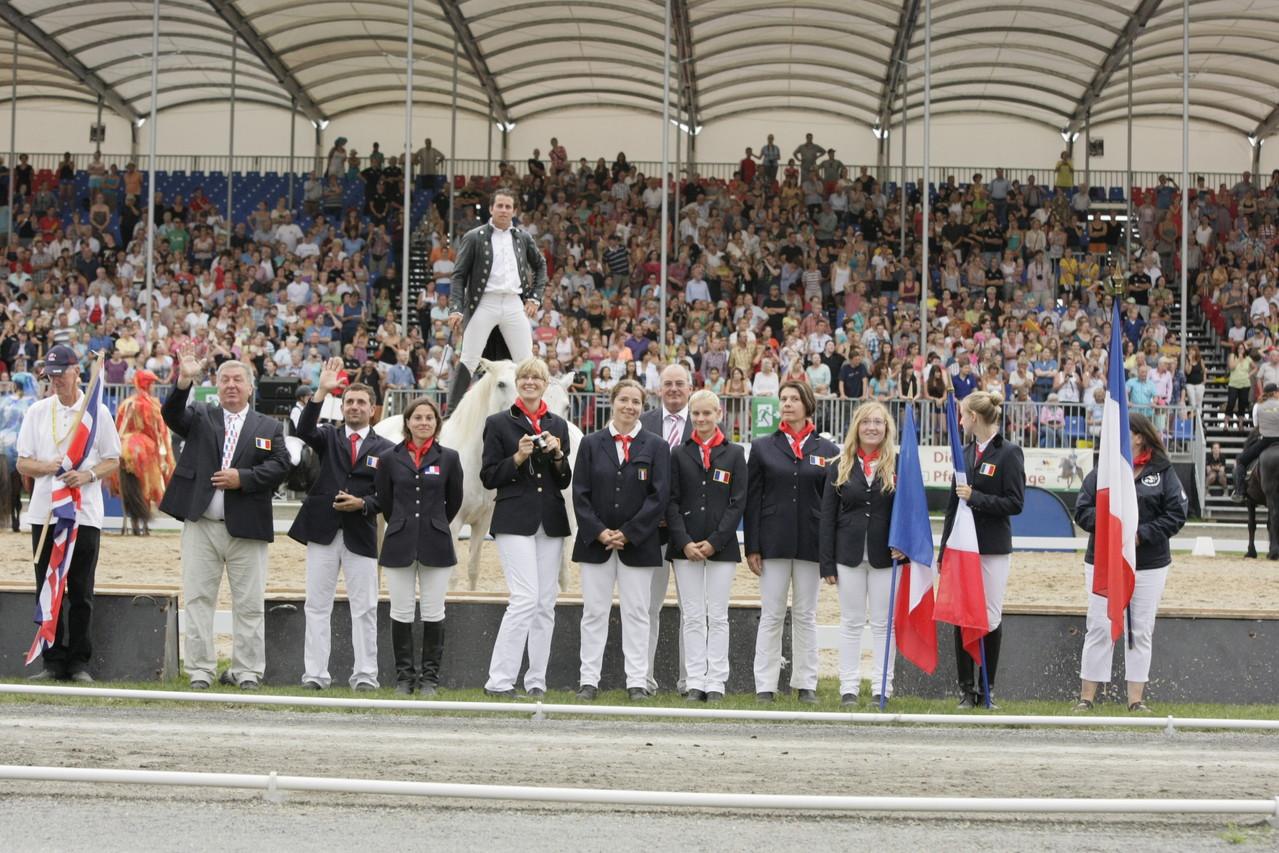 Présentation de la délégation française lors de la cérémonie d'ouverture - photo David Seltz