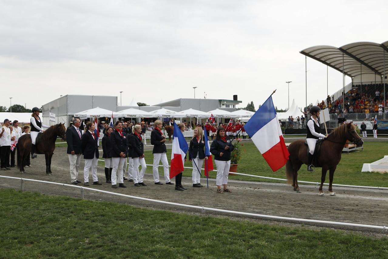 L'équipe de France lors de la cérémonie d'ouverture - Photo David Seltz