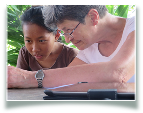 volunteer, volunteering , Bali, WINS curriculum, help the children, doing activities, photography, yoga, drawing, painting, sports, music, knowledge and skills.