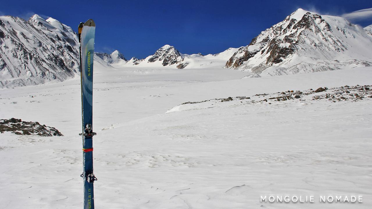 Le long glacier d'Alexander