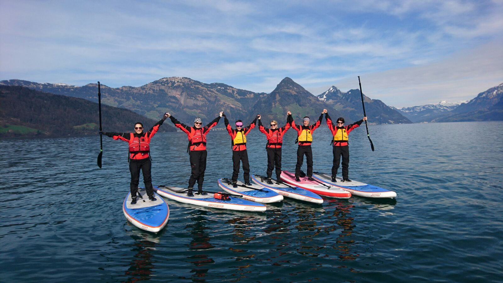 Gemeinsame Stand Up Paddle Tour