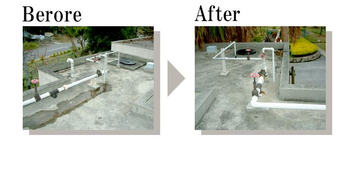 配管水漏れ修繕工事
