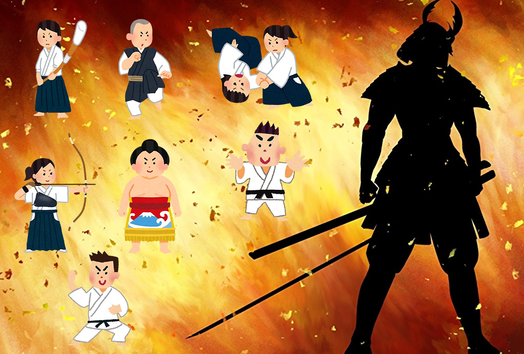 武道の種類とは?武道の映画・小説・漫画・アニメなどを紹介します。