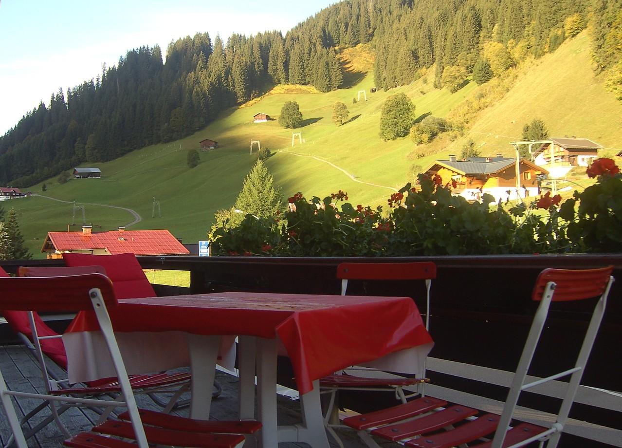 Blick vom Balkon nach Westen im Sommer