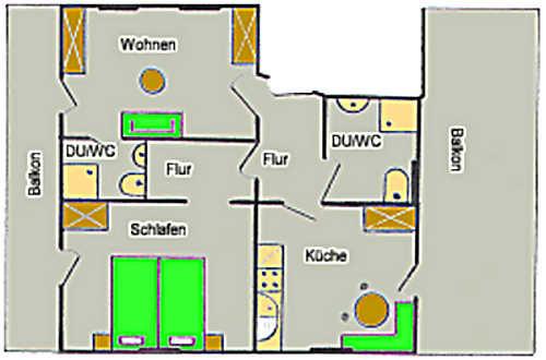 Grundriss Wohnung Rundblick Mittelberg