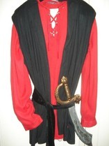 Piratenhemd +Gilet, Gr L/ XL, Fr.19.-
