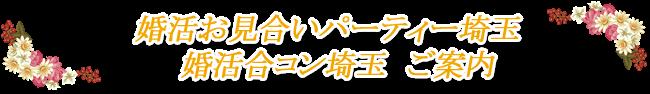 婚活お見合いパーティ埼玉 婚活合コン埼玉 ご案内
