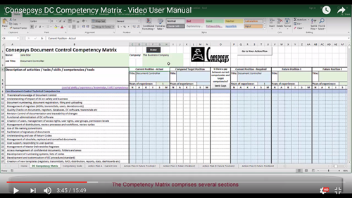 document control competency matrix