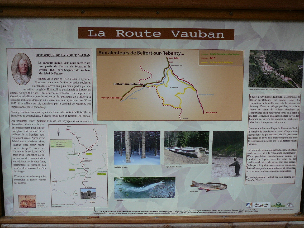 le chemin Vauban, par les gorges du Rebenty