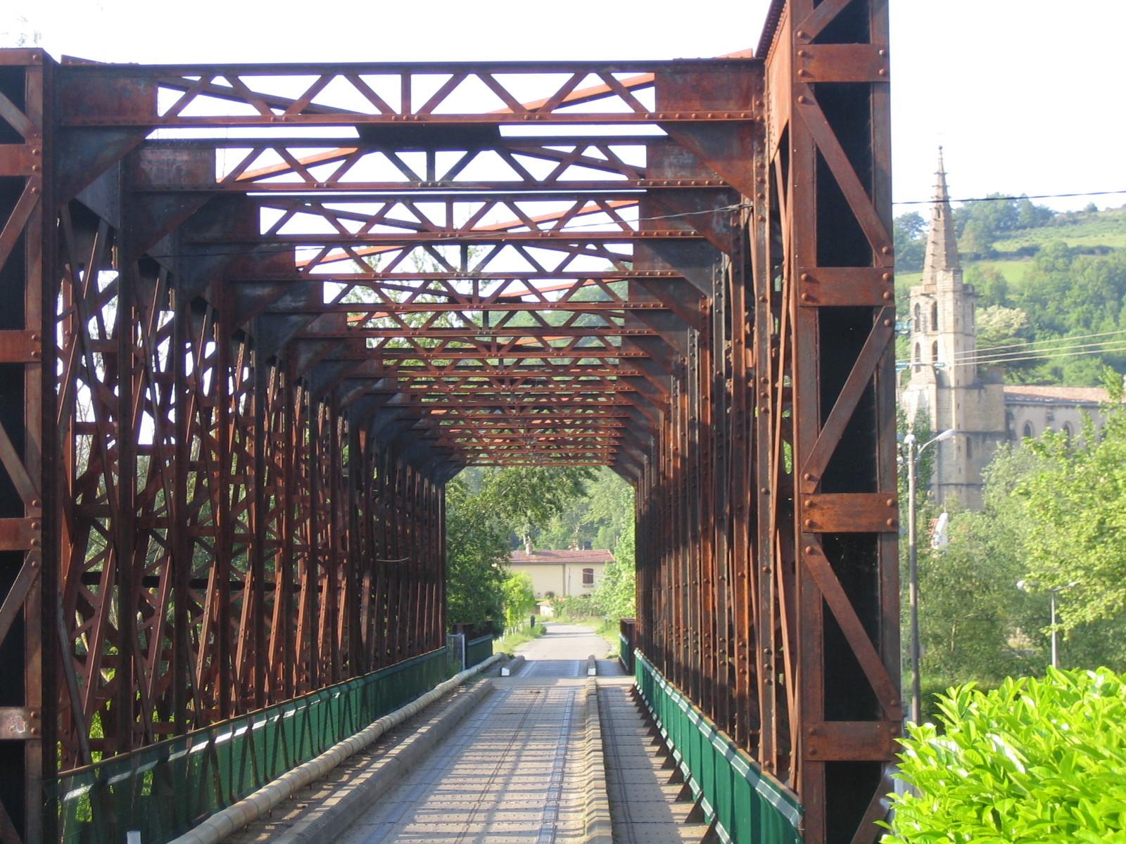 Le pont cadre métallique de Chalabre