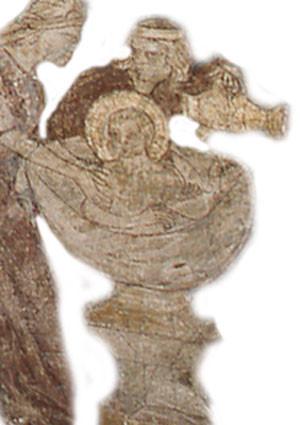 Ausschnitt aus der Kreuzabnahme im Deckenfresko von Sankt Maria in Lyskirchen, Köln (FOTORECHTE: Gemeinde Sankt Maria in Lyskirchen)